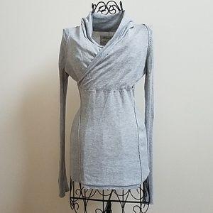 Women's Allsaints light gray wrap sweater